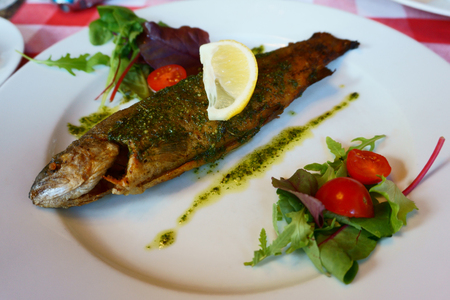 nice food: grilled trout fish as very nice food background