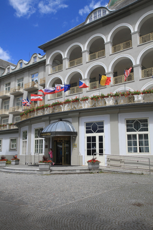 hydrotherapy: Jesenik,Czech Republic-July 19,2016: Main Spa hotel ,It is worlds first hydrotherapy institute. Editorial