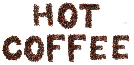 hot coffee isolated on the white background