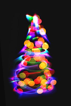 christmas lights as xmas tree as nice christmas background stock photo 65034254