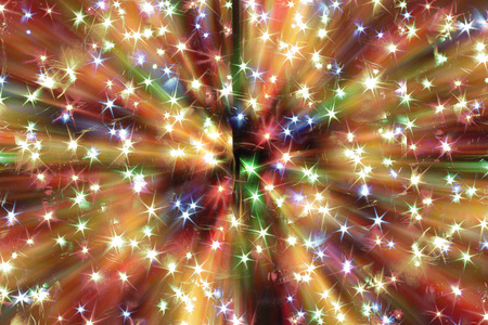 nice background: abstract christmas lights explosion as nice background