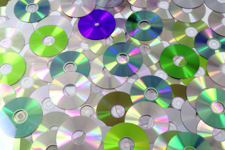 gigabytes: CD and DVD as nice technology background