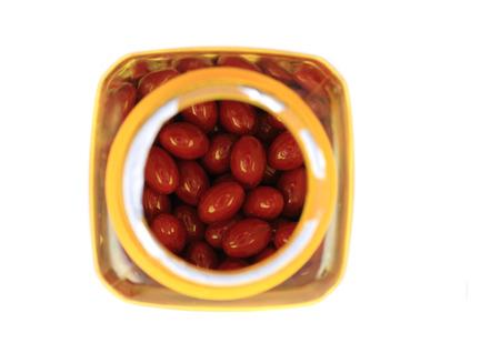 pastil: medical pills isolated on the white background