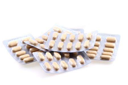 medical pills isolated on the white background