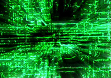 abstract matrix background generated in the  computer Stock Photo