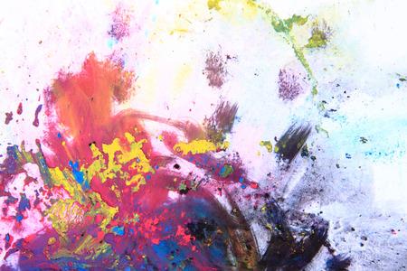 cmyk toner powder (cyan, magenta, yellow, black) as nice color background Stock Photo