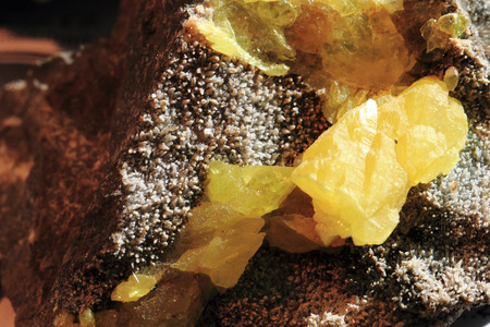 sulphur: yellow sulphur mineral as very nice natural background