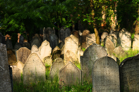 old jewish burial place in the czech repulic