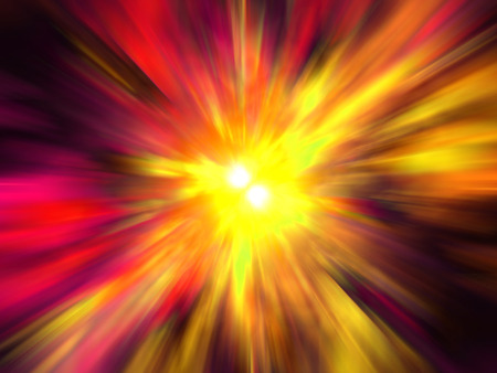 abstract explosion texture generated by the computer Stock Photo