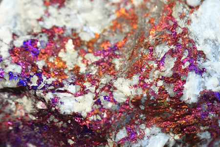chalcopyrite mineral texture as nice natural metal background Stock Photo