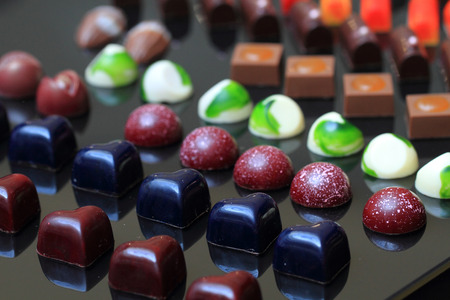 bonbons: chocolate bonbons as ver nice sweet food background