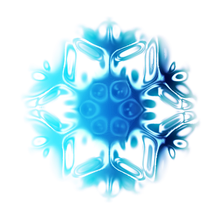 isoleted: abstract snow flake isoleted on the white background
