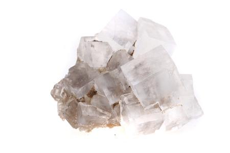 흰색 배경에 고립 된 소금 소금 큐브 스톡 콘텐츠