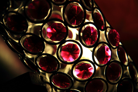 chandelier background: red glass light as very nice retro background Stock Photo
