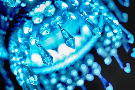 lustre: blue crystal lustre on the black background