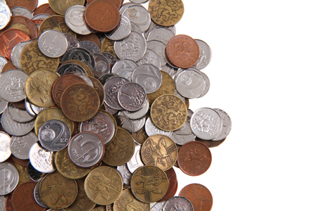 czech coins texture as nice business background Stock Photo