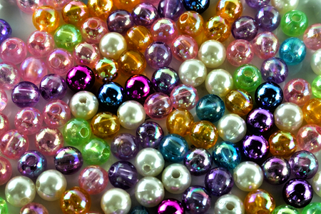 small plastic or glass color beads background