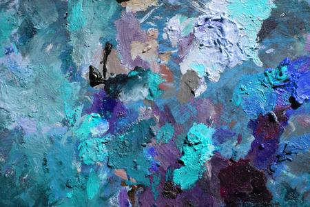 古いパレットから抽象的な青い背景