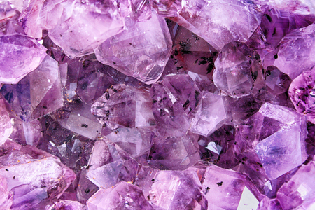 very nice violet amethyst natural background (crystals) Stock Photo