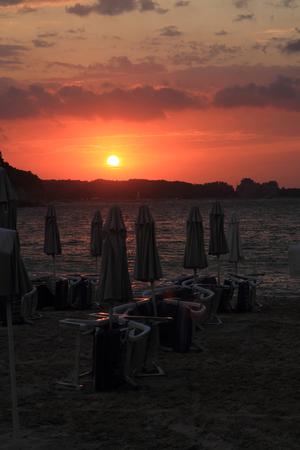 bulgarian sea sunset as nice natural background