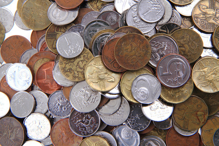 czech republic coin: czech coins texture as nice business background Stock Photo