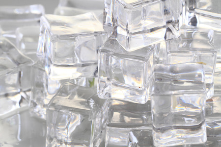 refrigerate: ice cubes texture as nice cold background Stock Photo