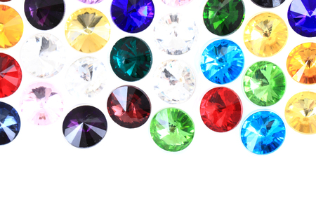 zafiro: color glass diamonds isolated on the white background