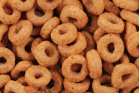 honey rings cereals as very nice food background