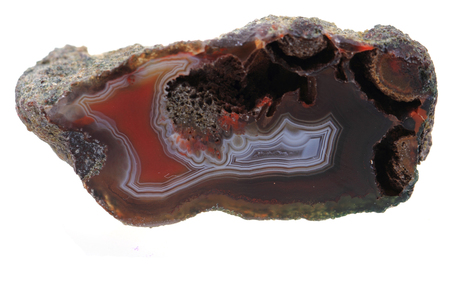 brown agate isolated on the white background