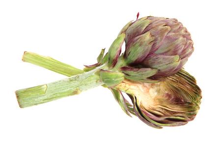 fresh artichoke isolated on the white background Stock Photo