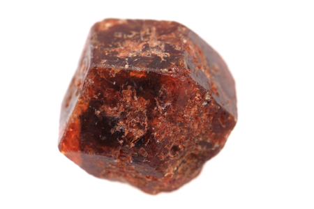 czech garnet mineral isolated on the white background Фото со стока