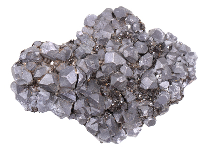 plumbum: galena mineral isolated on the white background