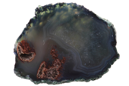 natural agate isolated on the white background