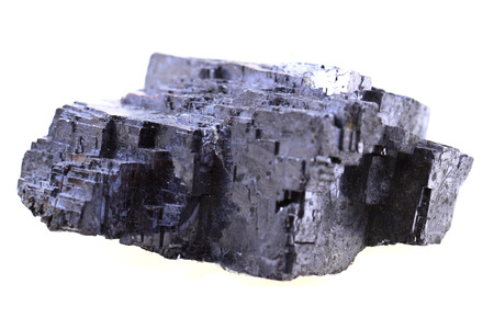 galena mineral isolated on the white background