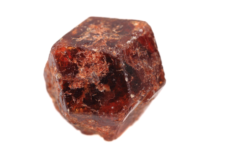 czech garnet mineral isolated on the white background Stock Photo