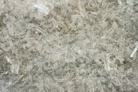 energy healing: white rock-crystal texture as very nice mineral background Stock Photo