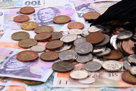 czech money texture as nice business background Stock Photo