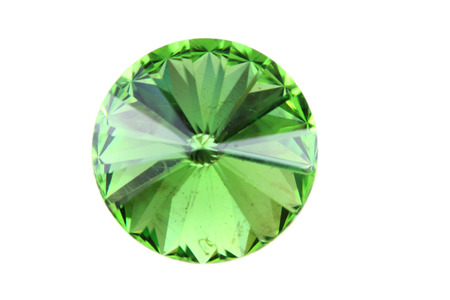 tsavorite: green glass diamond isolated on the white background Stock Photo