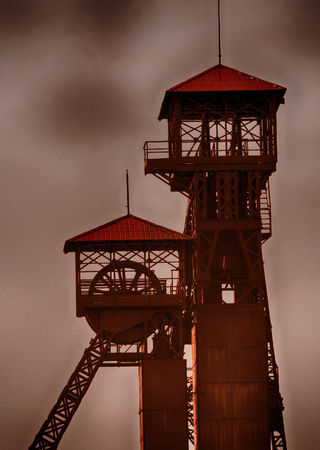 old mine tower from the city of Ostrava