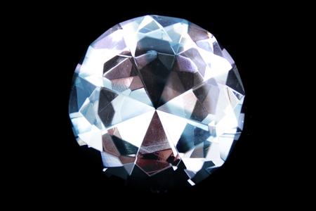 nice big diamond isolated on the black background