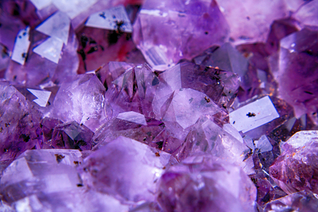 nice crystals of amethyst (natural mineral texture)
