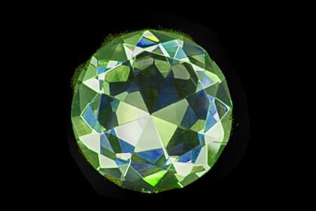 nice diamond isolated on the black background