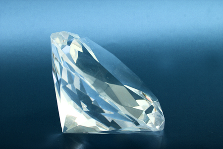 diamond stones: big shiny briliant on the black background