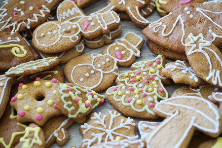 gingerbread man: christmas tradition gingerbread from czech republic as nice background