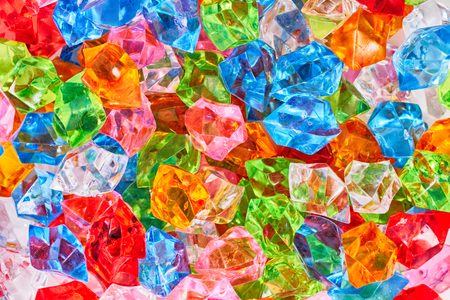 small color plastic diamonds as nice background
