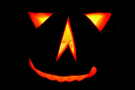 nice halloween pumpkin on the black background Stock Photo