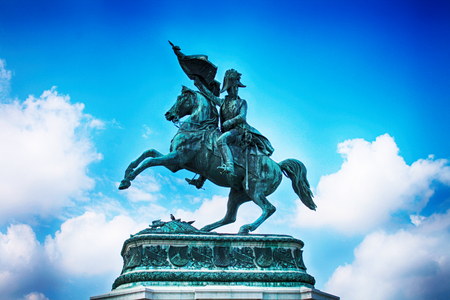 old statue of the napoleon in Vienna