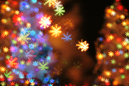 Nice Xmas Background From The Christmas Lights Stock Photo, Picture ...