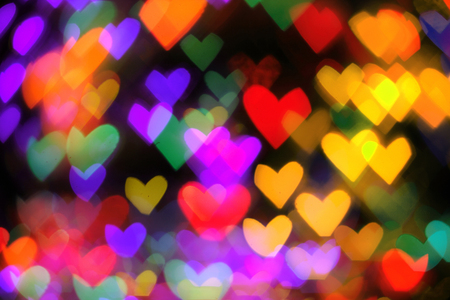 abstract hearts background from the christmas lights