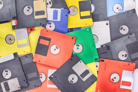 nice rainbow background from the floppy discs Stock Photo